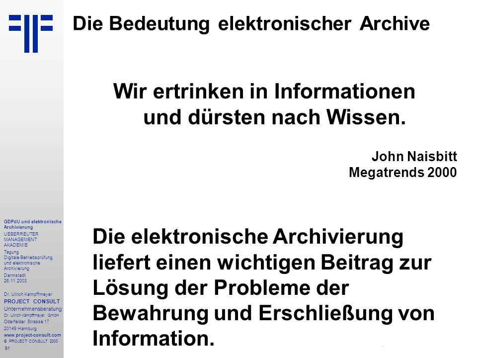 Die Bedeutung elektronischer Archive