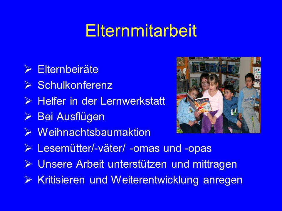 Elternmitarbeit Elternbeiräte Schulkonferenz