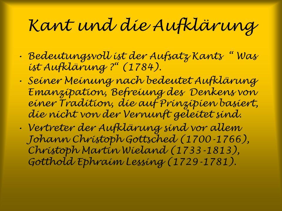 Kant und die Aufklärung