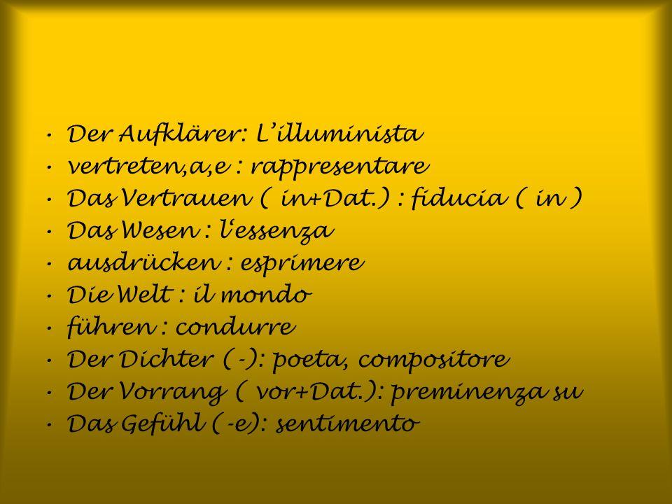 Der Aufklärer: L'illuminista