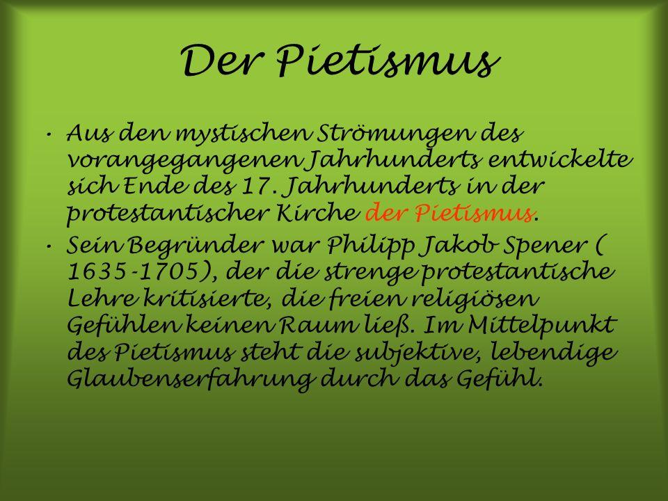 Der Pietismus