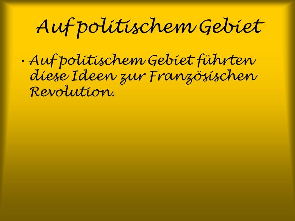 Auf politischem Gebiet