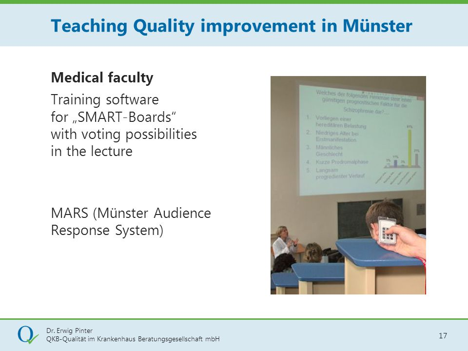 Teaching Quality improvement in Münster