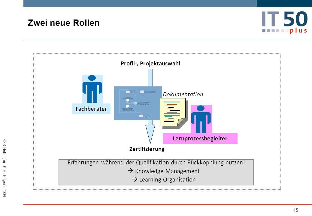 Lernprozessbegleiter Profil-, Projektauswahl
