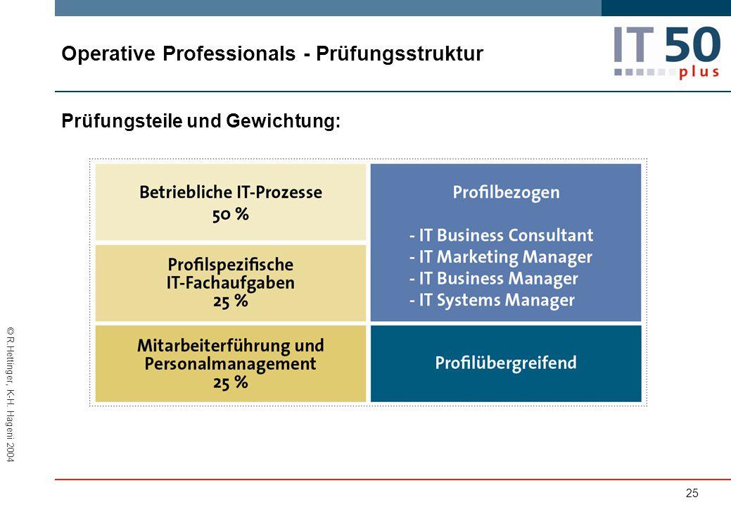 Operative Professionals - Prüfungsstruktur