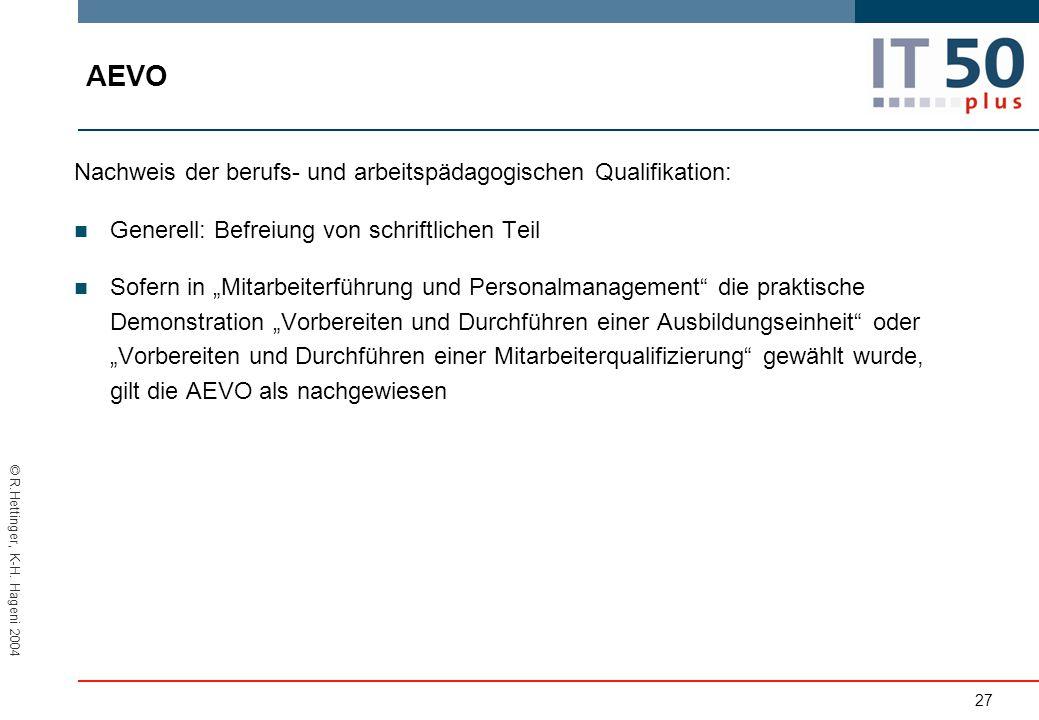 AEVO Nachweis der berufs- und arbeitspädagogischen Qualifikation: