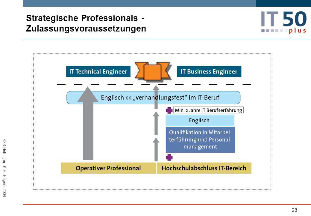 Strategische Professionals - Zulassungsvoraussetzungen