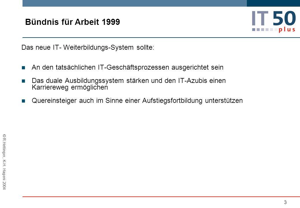Bündnis für Arbeit 1999 Das neue IT- Weiterbildungs-System sollte: