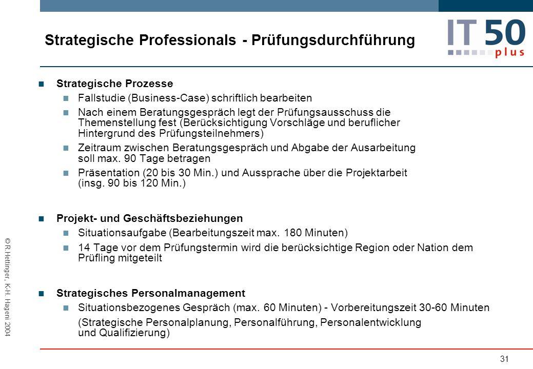 Strategische Professionals - Prüfungsdurchführung