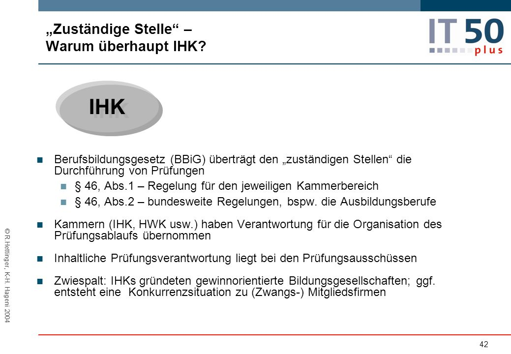 """""""Zuständige Stelle – Warum überhaupt IHK"""