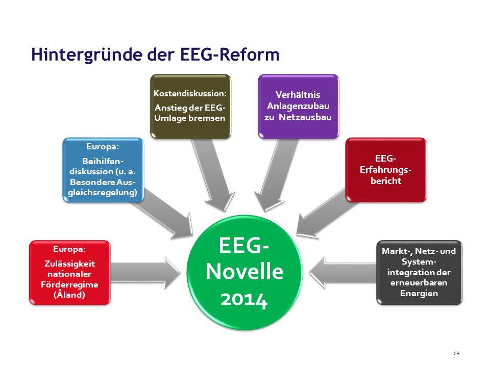 Hintergründe der EEG-Reform