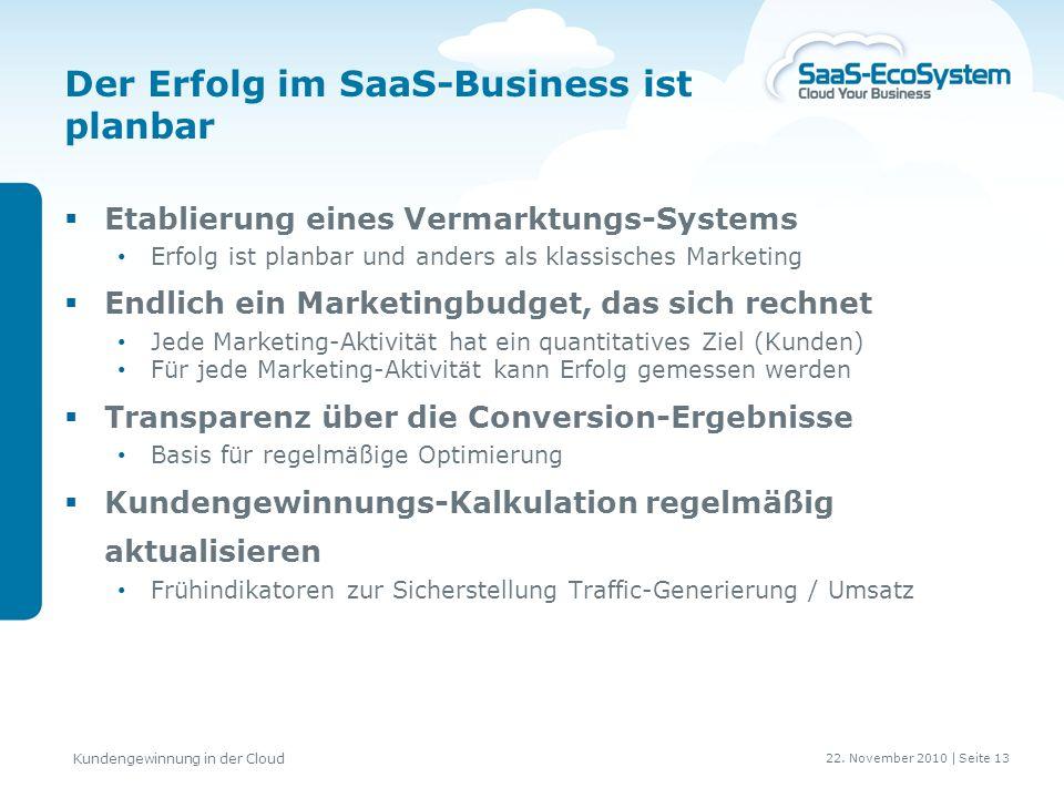 Der Erfolg im SaaS-Business ist planbar