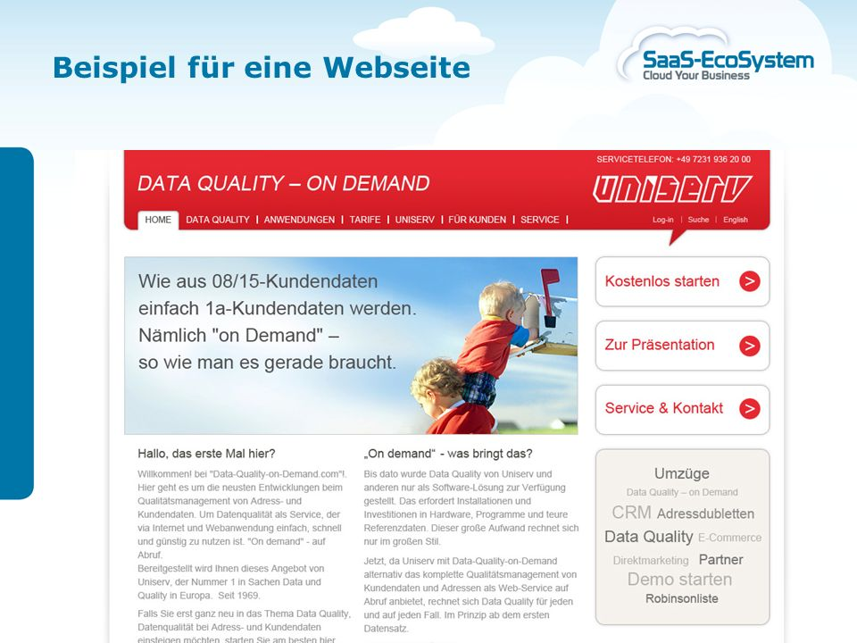 Beispiel für eine Webseite