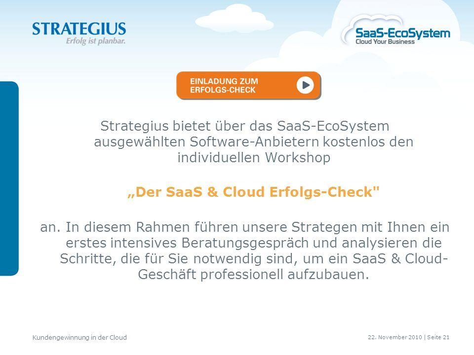 """""""Der SaaS & Cloud Erfolgs-Check"""