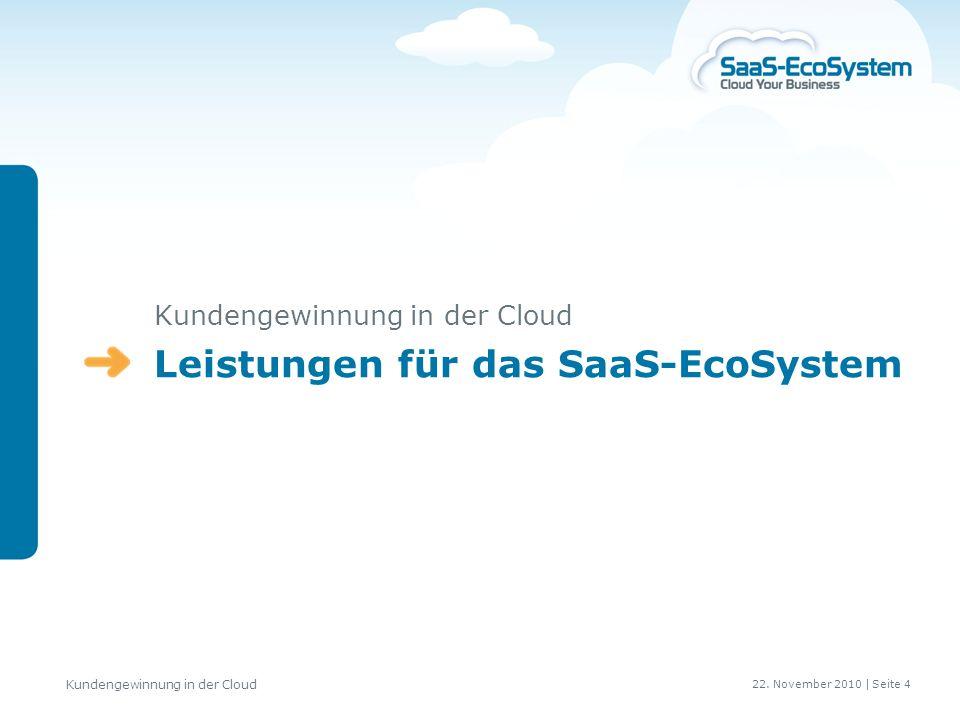 Leistungen für das SaaS-EcoSystem