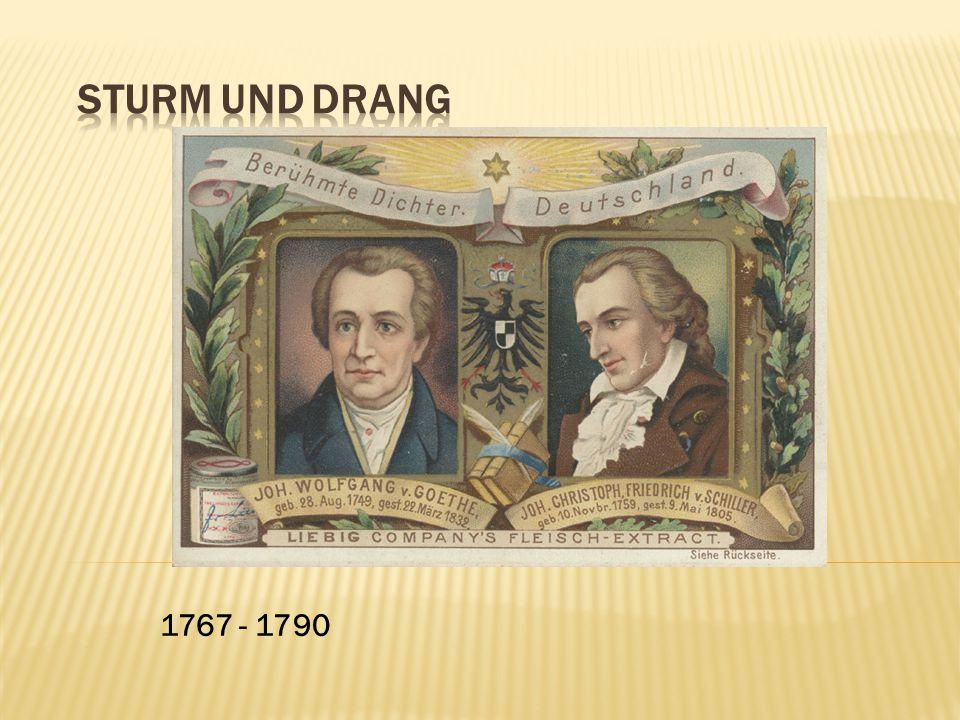 Sturm und Drang 1767 - 1790