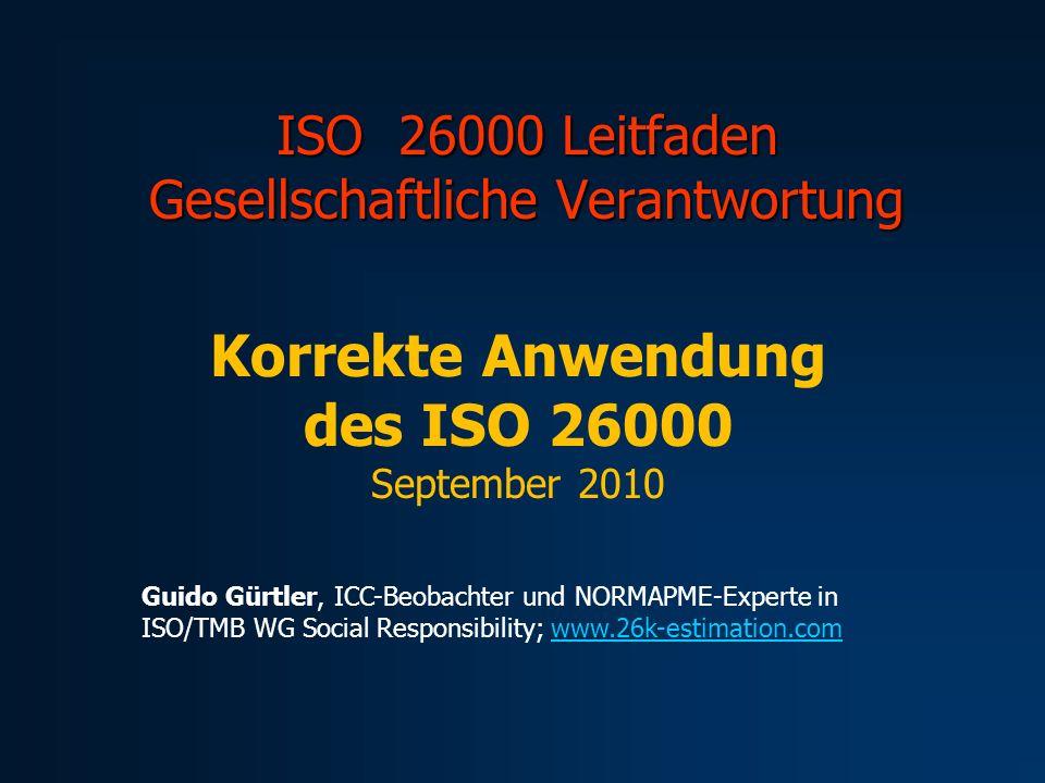 ISO 26000 Leitfaden Gesellschaftliche Verantwortung