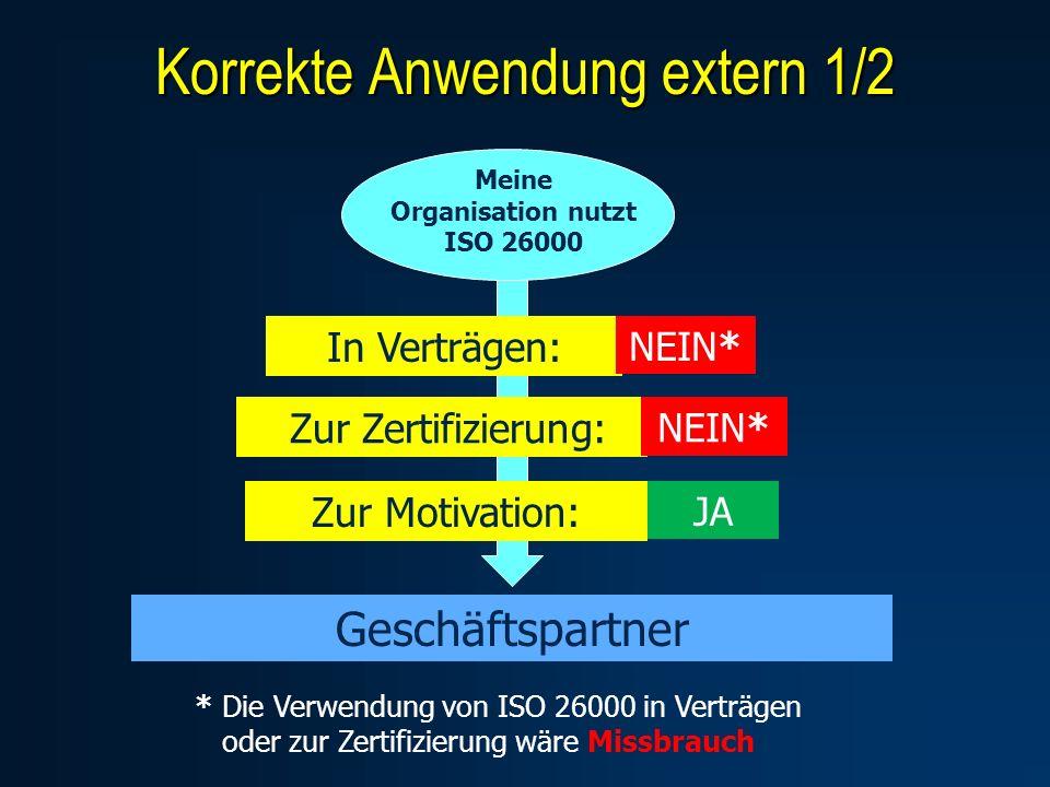 Meine Organisation nutzt ISO 26000
