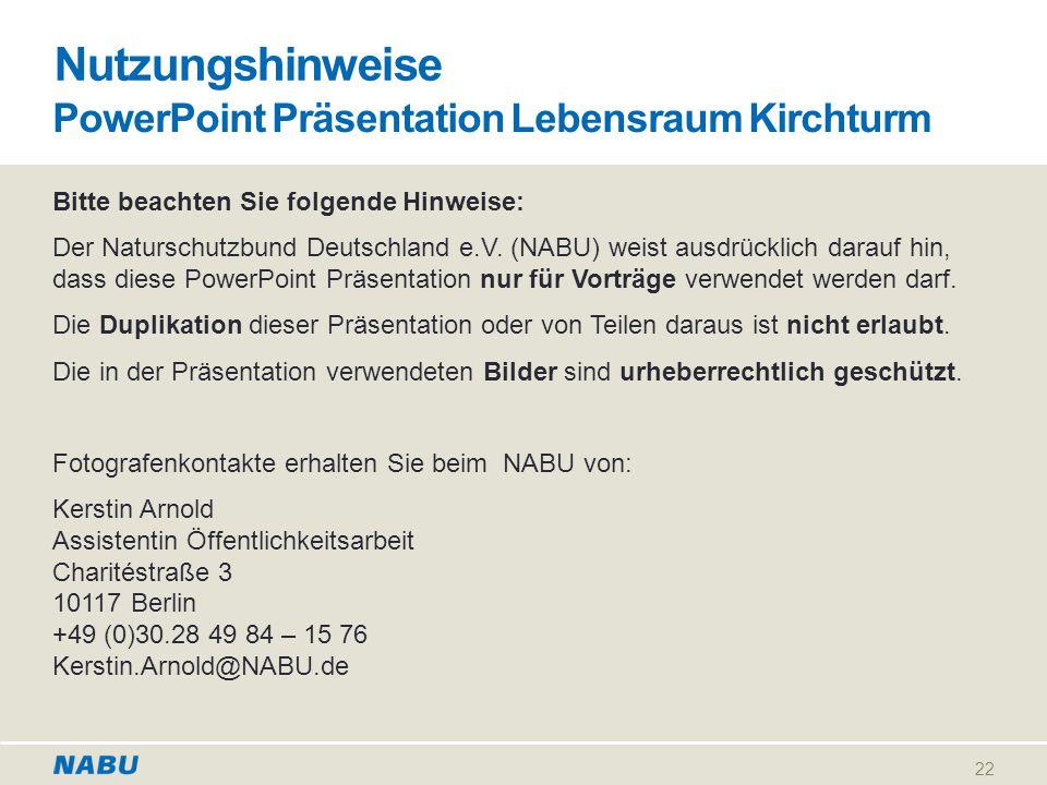 PowerPoint Präsentation Lebensraum Kirchturm