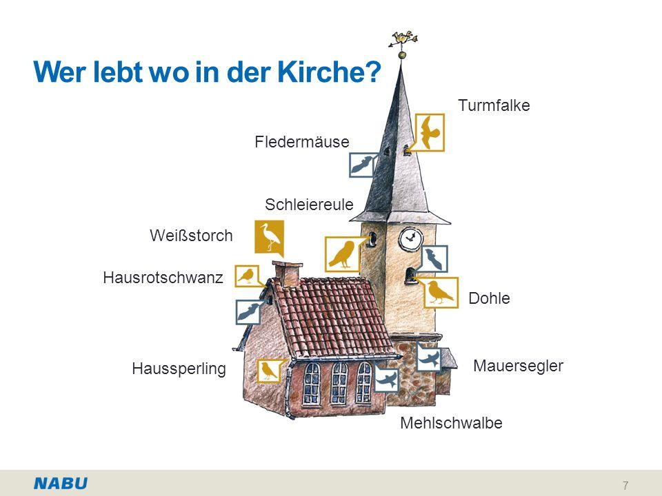 Wer lebt wo in der Kirche