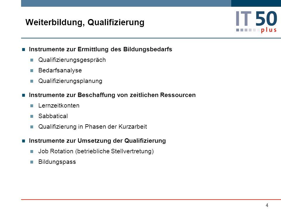 Weiterbildung, Qualifizierung