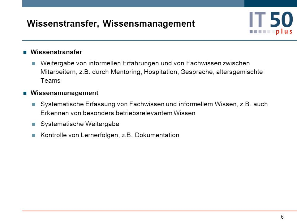 Wissenstransfer, Wissensmanagement