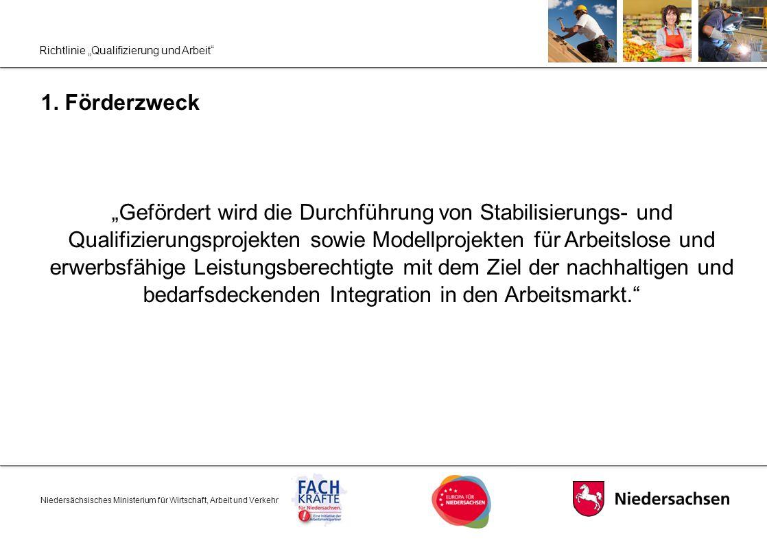 """Richtlinie """"Qualifizierung und Arbeit"""