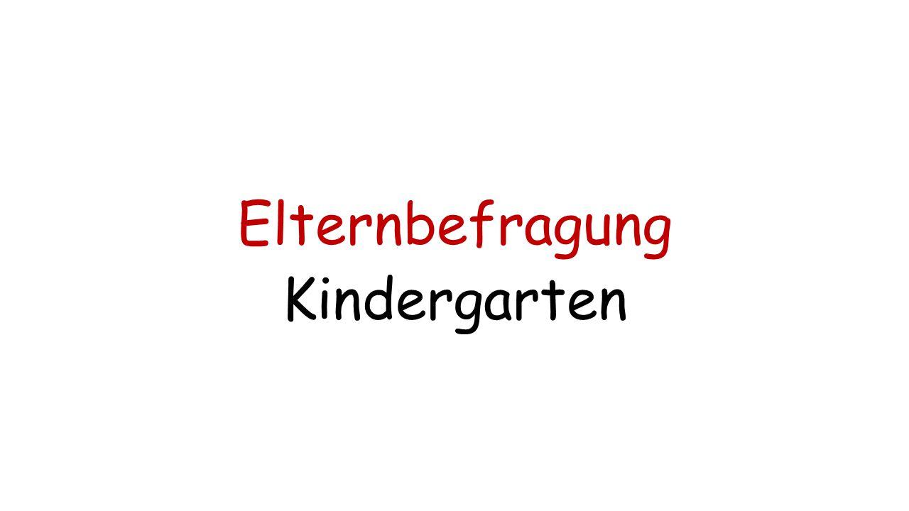 Elternbefragung Kindergarten