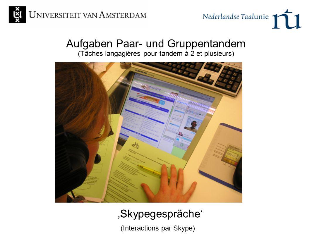 'Skypegespräche' (Interactions par Skype)