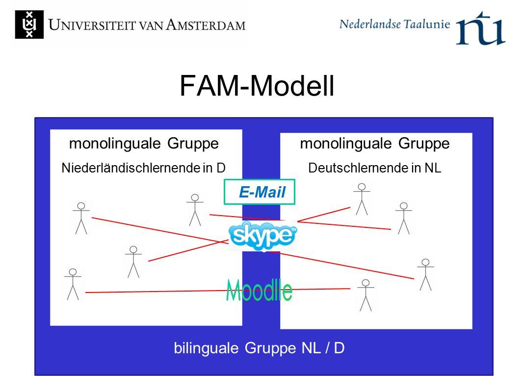 FAM-Modell Moodlle e monolinguale Gruppe monolinguale Gruppe E-Mail