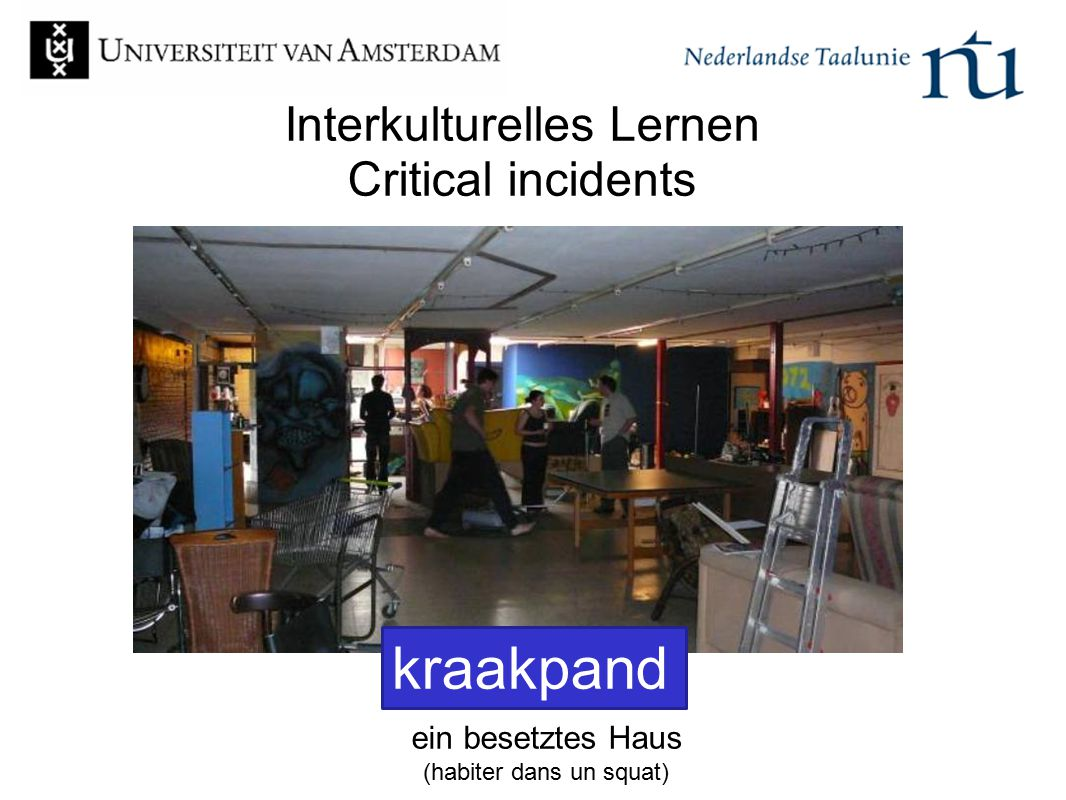 Interkulturelles Lernen Critical incidents