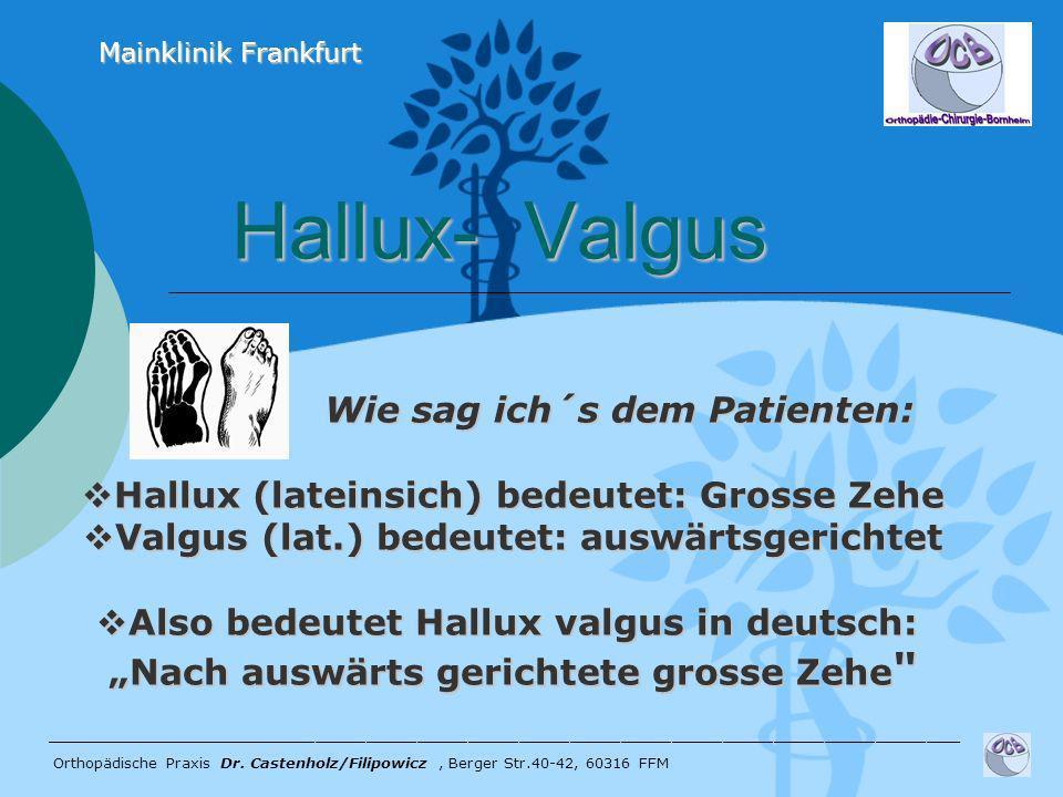 Hallux- Valgus Wie sag ich´s dem Patienten: