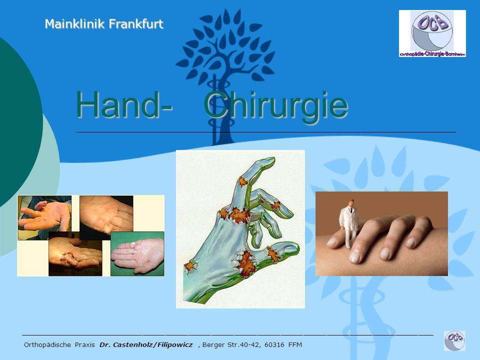 Hand- Chirurgie Mainklinik Frankfurt