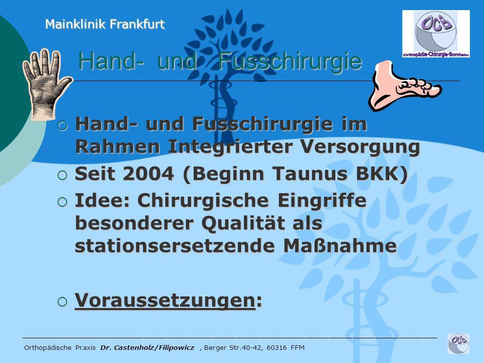 Hand- und Fusschirurgie