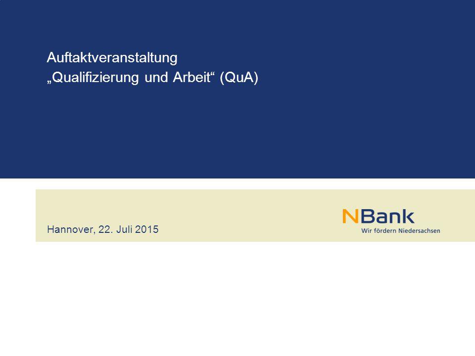 """Auftaktveranstaltung """"Qualifizierung und Arbeit (QuA)"""
