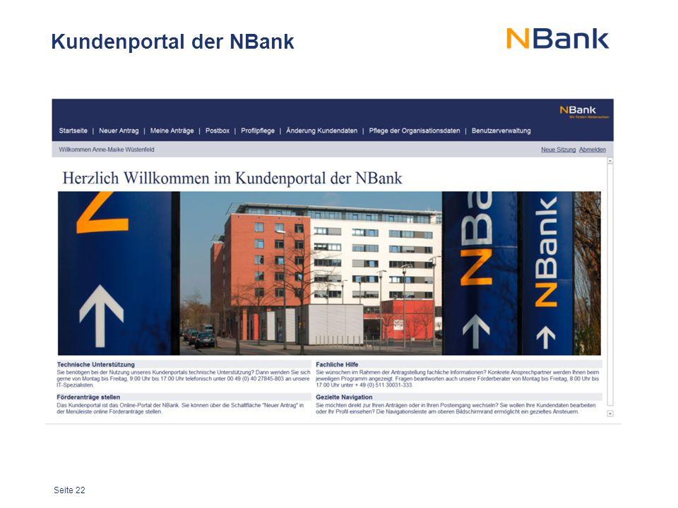 Kundenportal der NBank