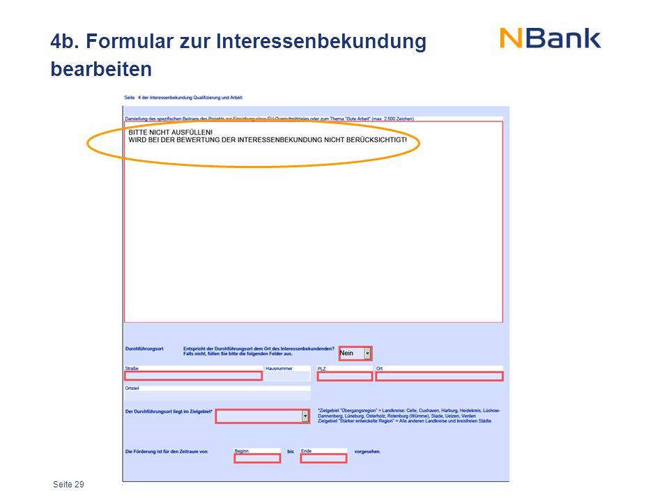 4b. Formular zur Interessenbekundung bearbeiten