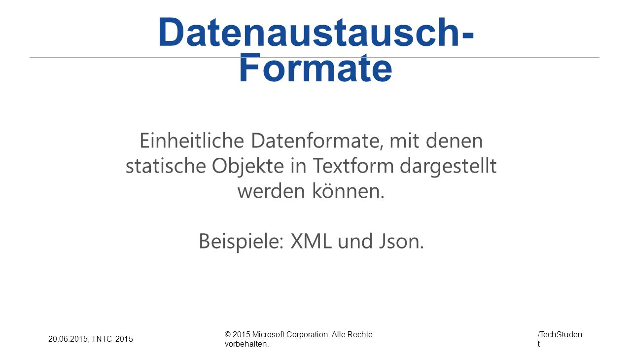 Datenaustausch-Formate