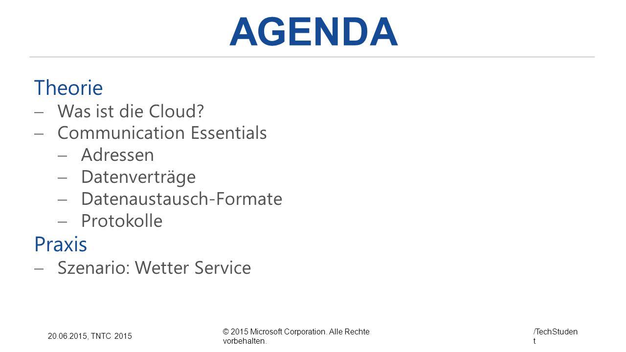 AGENDA Theorie Praxis Was ist die Cloud Communication Essentials