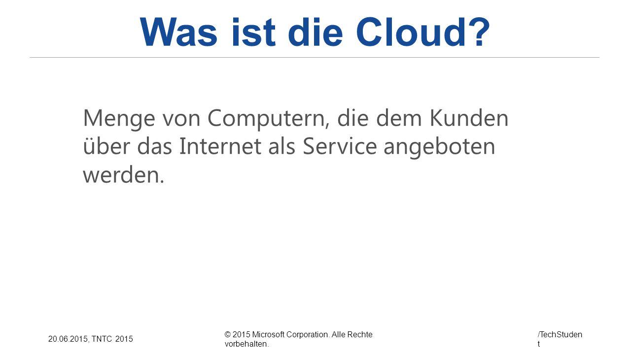 Was ist die Cloud.