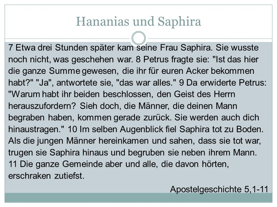 Hananias und Saphira