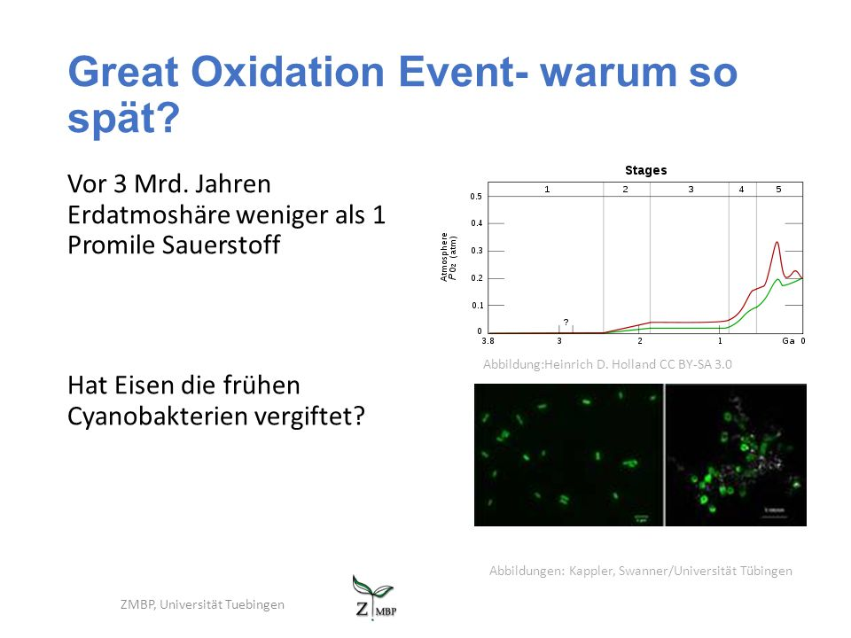 Great Oxidation Event- warum so spät