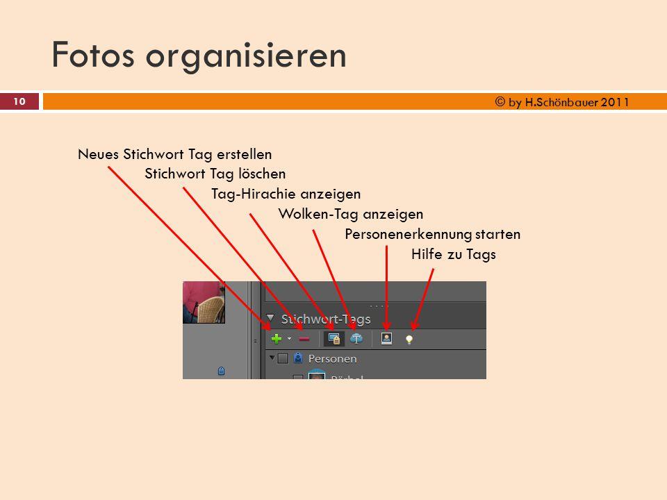 Fotos organisieren Neues Stichwort Tag erstellen Stichwort Tag löschen