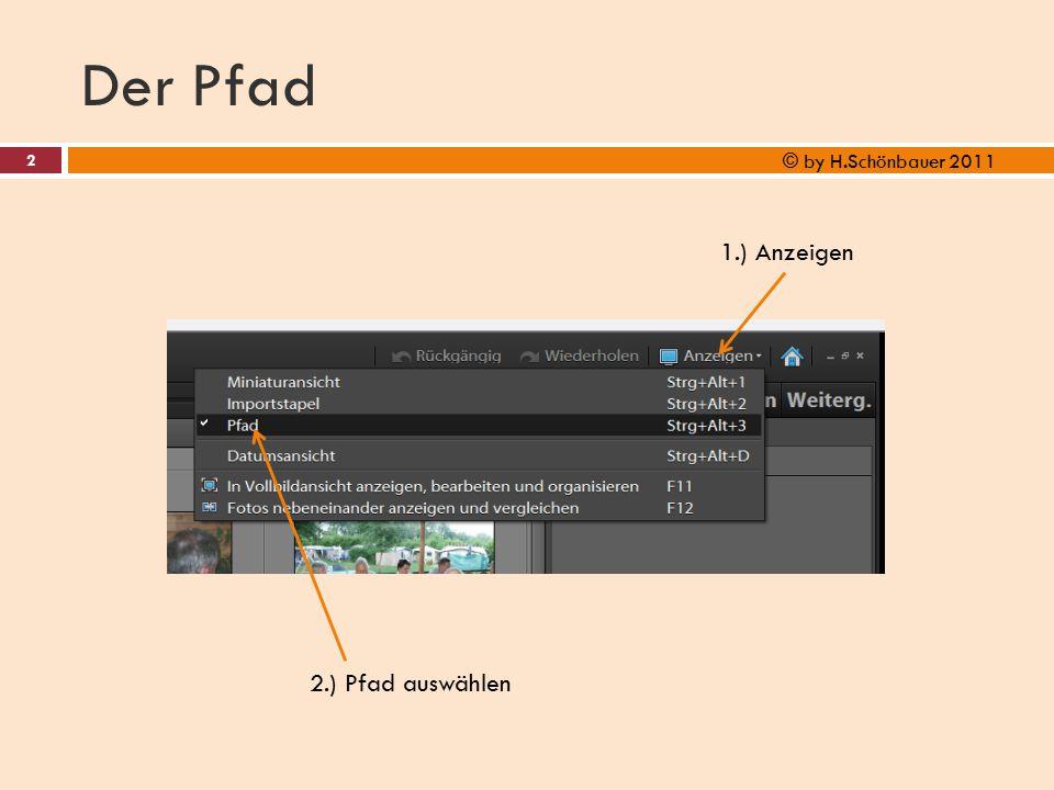 Der Pfad © by H.Schönbauer 2011 1.) Anzeigen 2.) Pfad auswählen