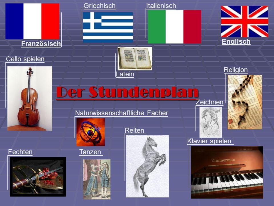 Der Stundenplan Griechisch Italienisch Englisch Französisch