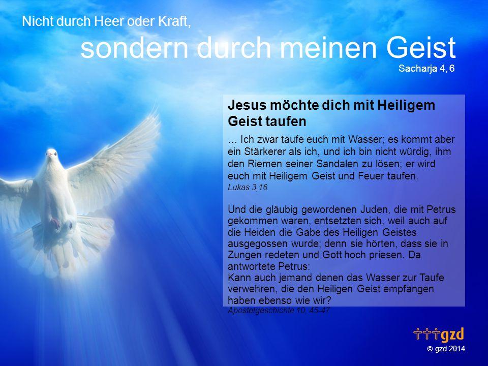 Jesus möchte dich mit Heiligem Geist taufen