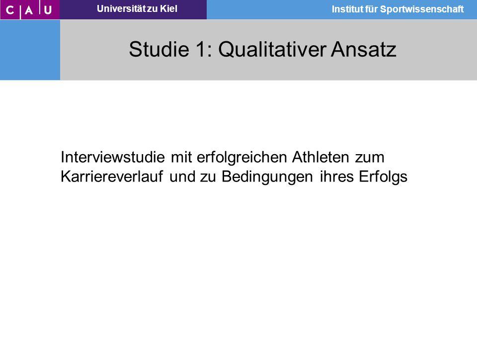 Studie 1: Qualitativer Ansatz