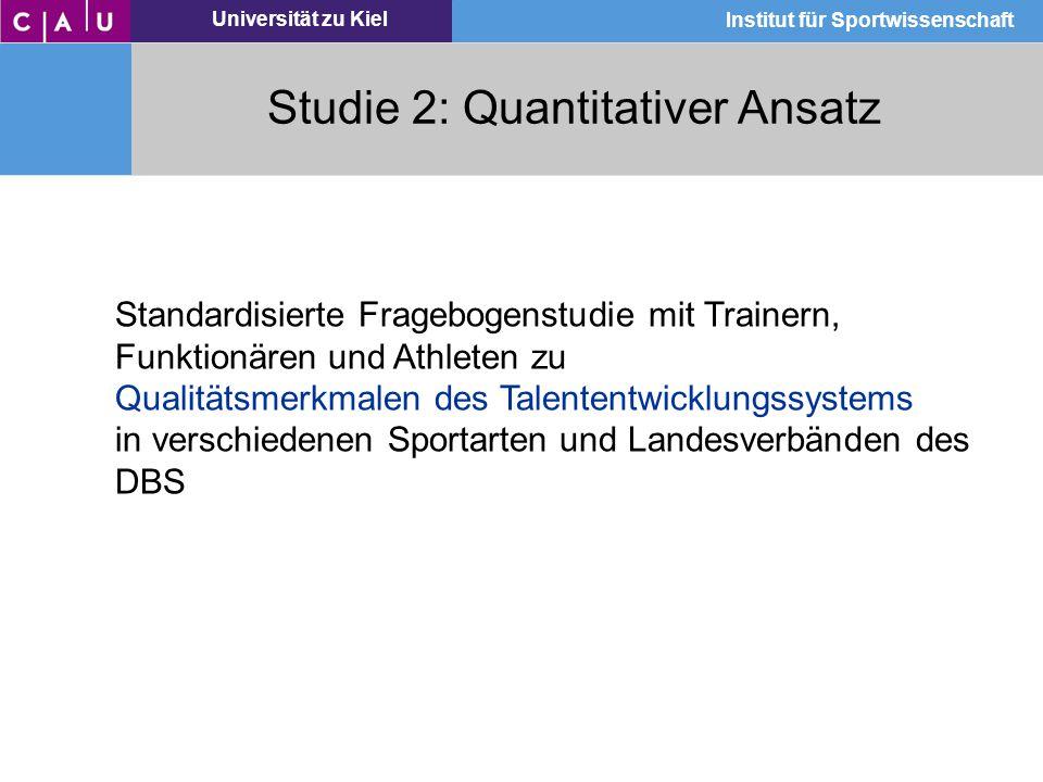 Studie 2: Quantitativer Ansatz