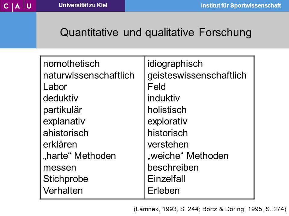 Quantitative und qualitative Forschung