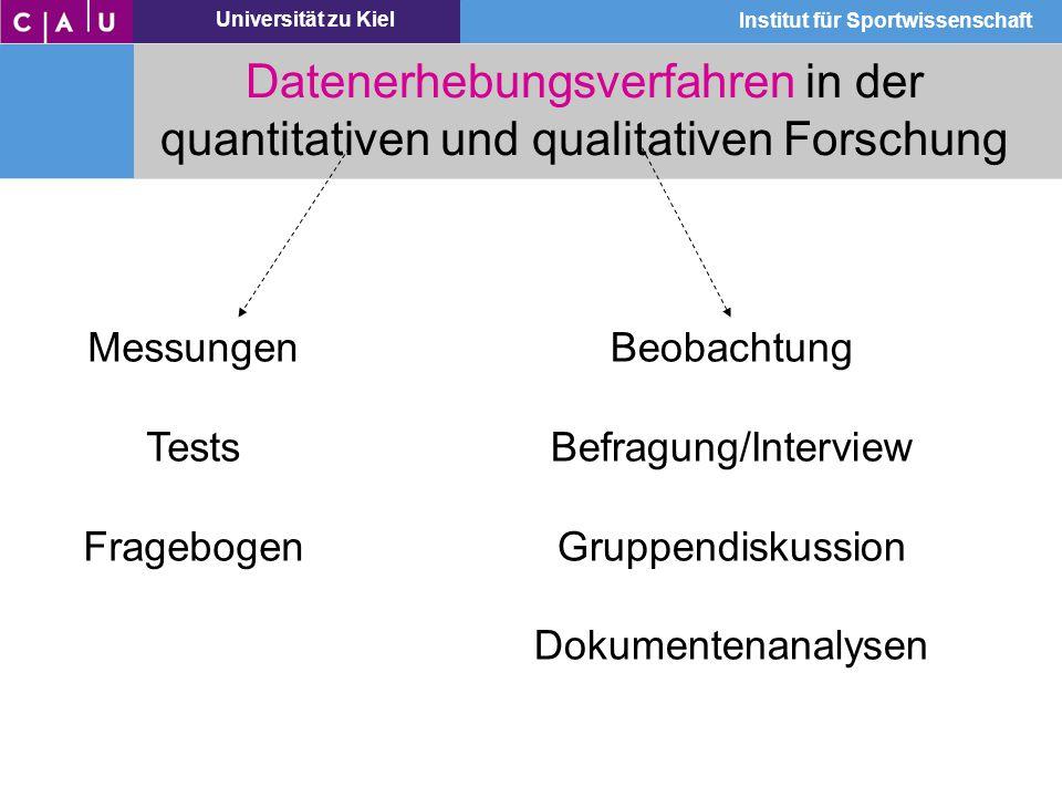 Datenerhebungsverfahren in der quantitativen und qualitativen Forschung